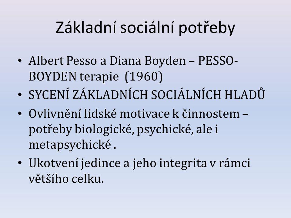 Základní sociální potřeby
