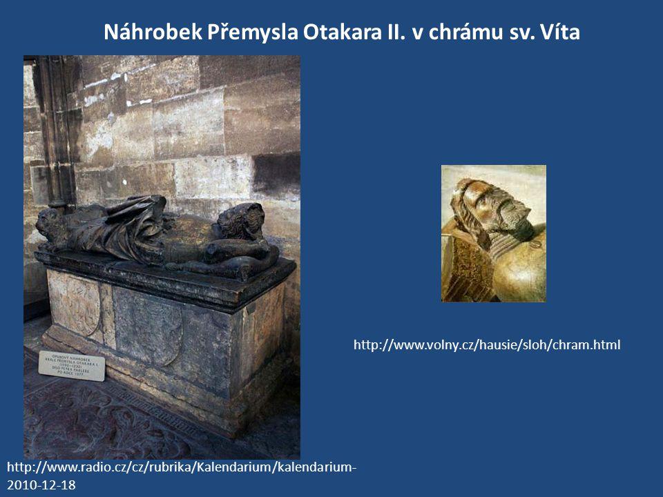 Náhrobek Přemysla Otakara II. v chrámu sv. Víta