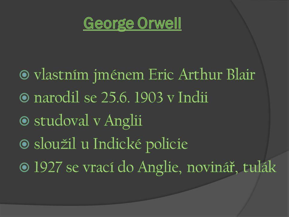 George Orwell vlastním jménem Eric Arthur Blair