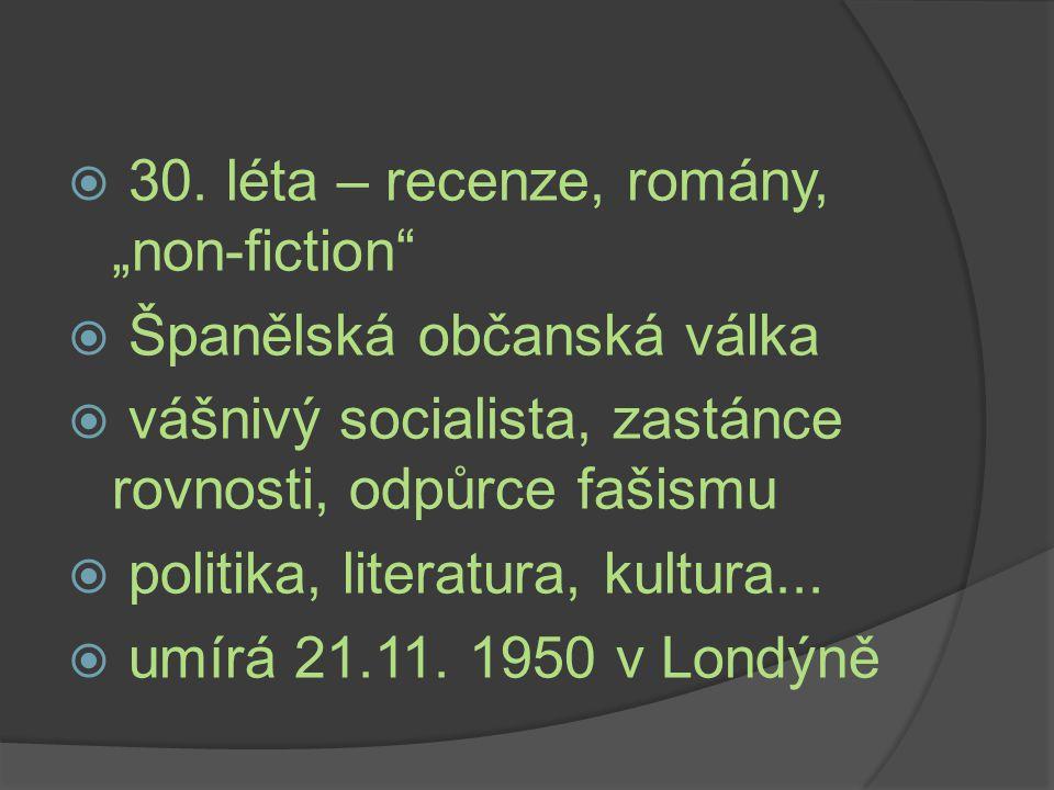 """30. léta – recenze, romány, """"non-fiction"""
