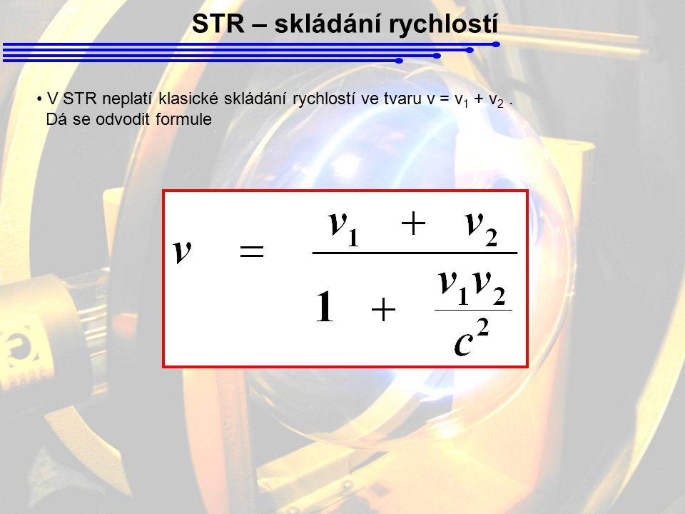 STR – skládání rychlostí