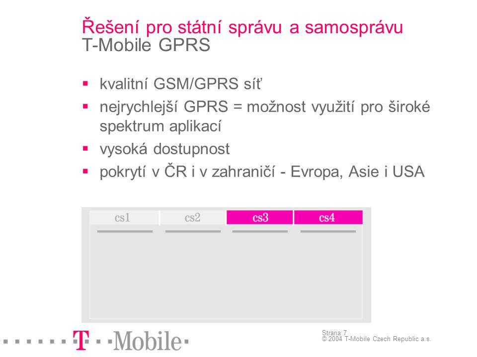 Řešení pro státní správu a samosprávu T-Mobile GPRS