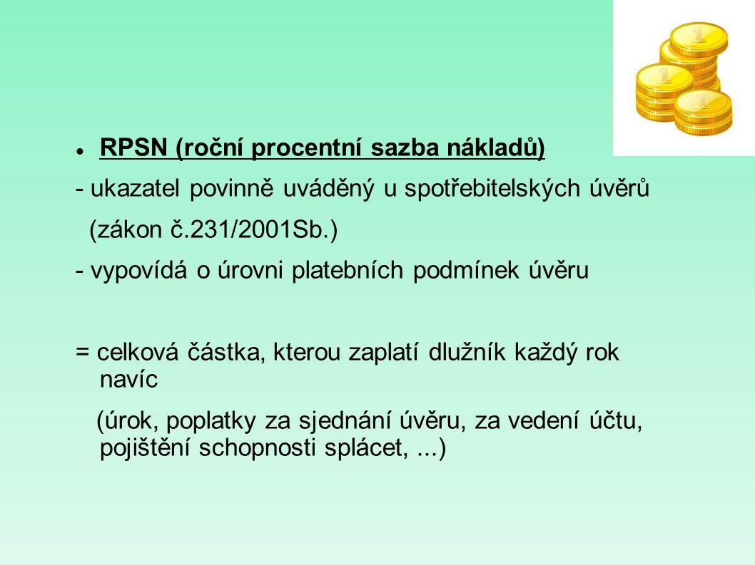 RPSN (roční procentní sazba nákladů)