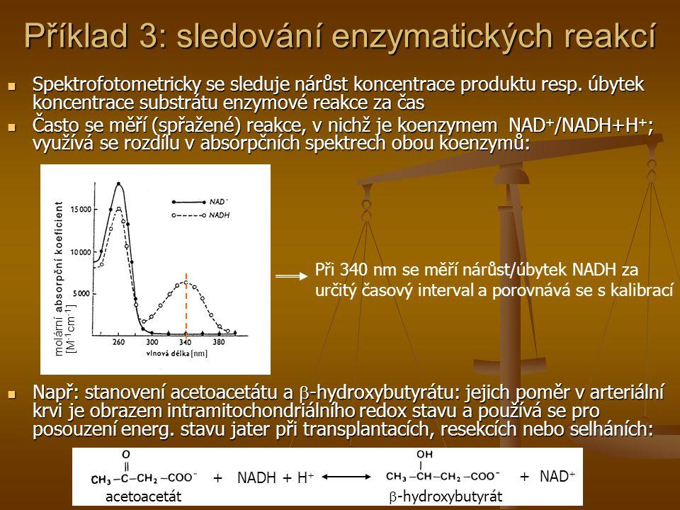 Příklad 3: sledování enzymatických reakcí