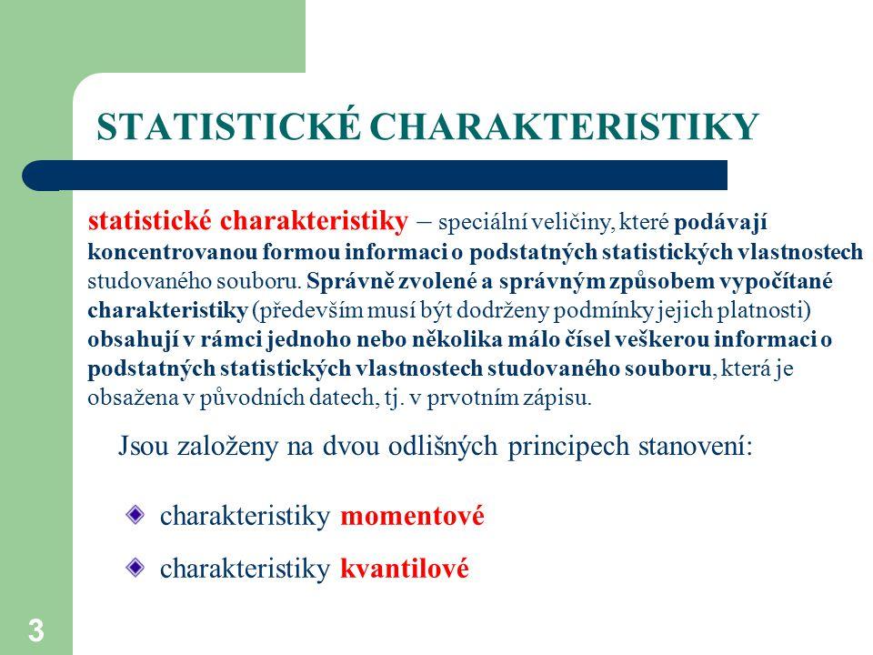 STATISTICKÉ CHARAKTERISTIKY