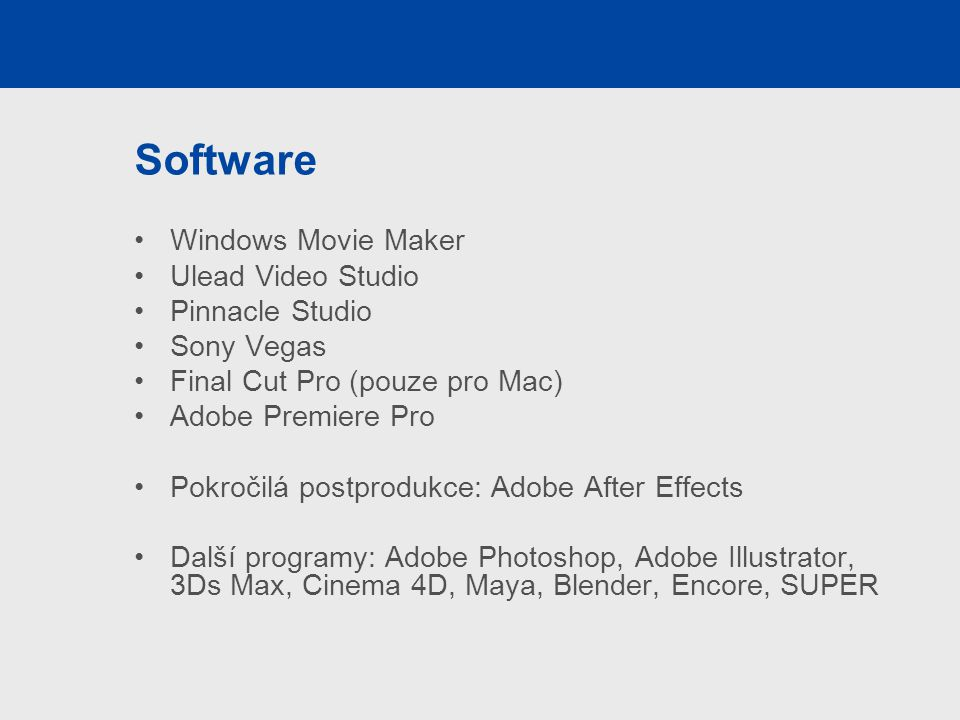 Software Windows Movie Maker Ulead Video Studio Pinnacle Studio