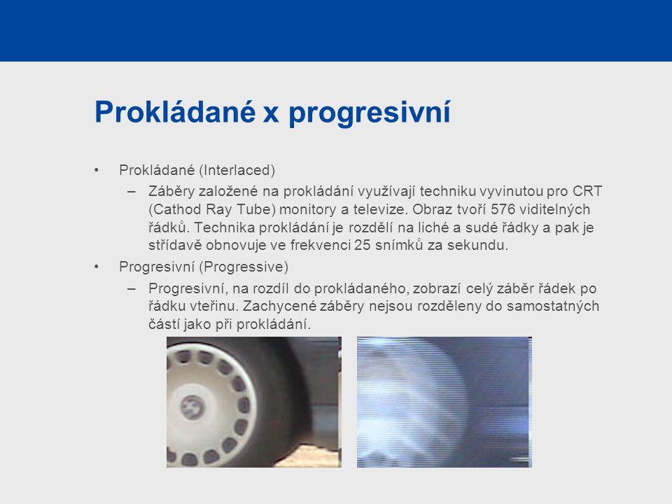 Prokládané x progresivní