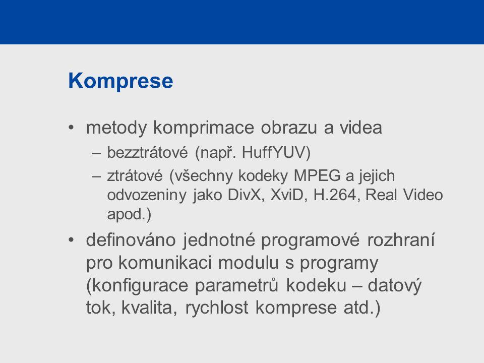 Komprese metody komprimace obrazu a videa