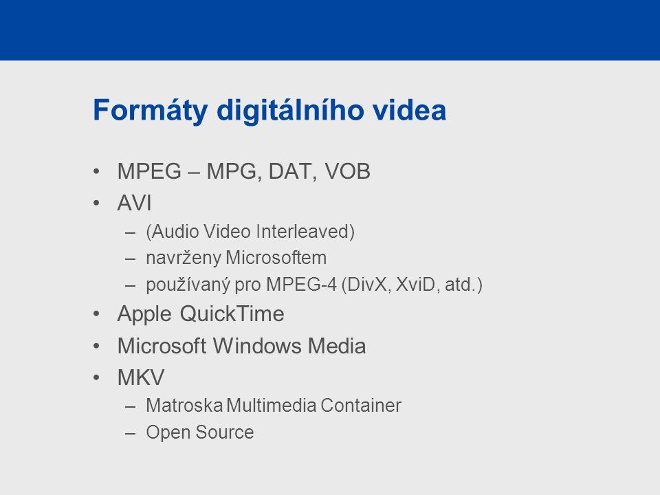 Formáty digitálního videa
