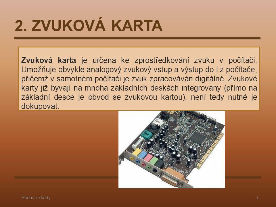2. ZVUKOVÁ KARTA