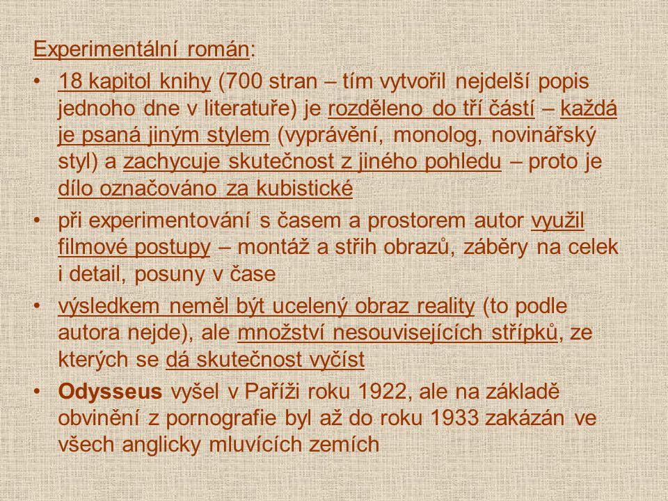 Experimentální román: