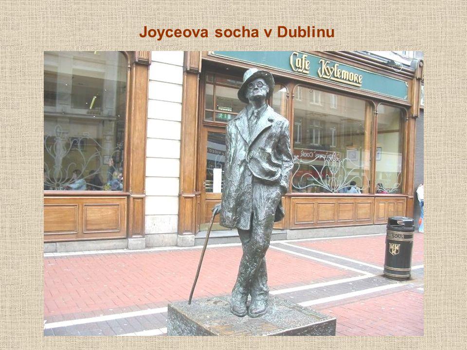 Joyceova socha v Dublinu