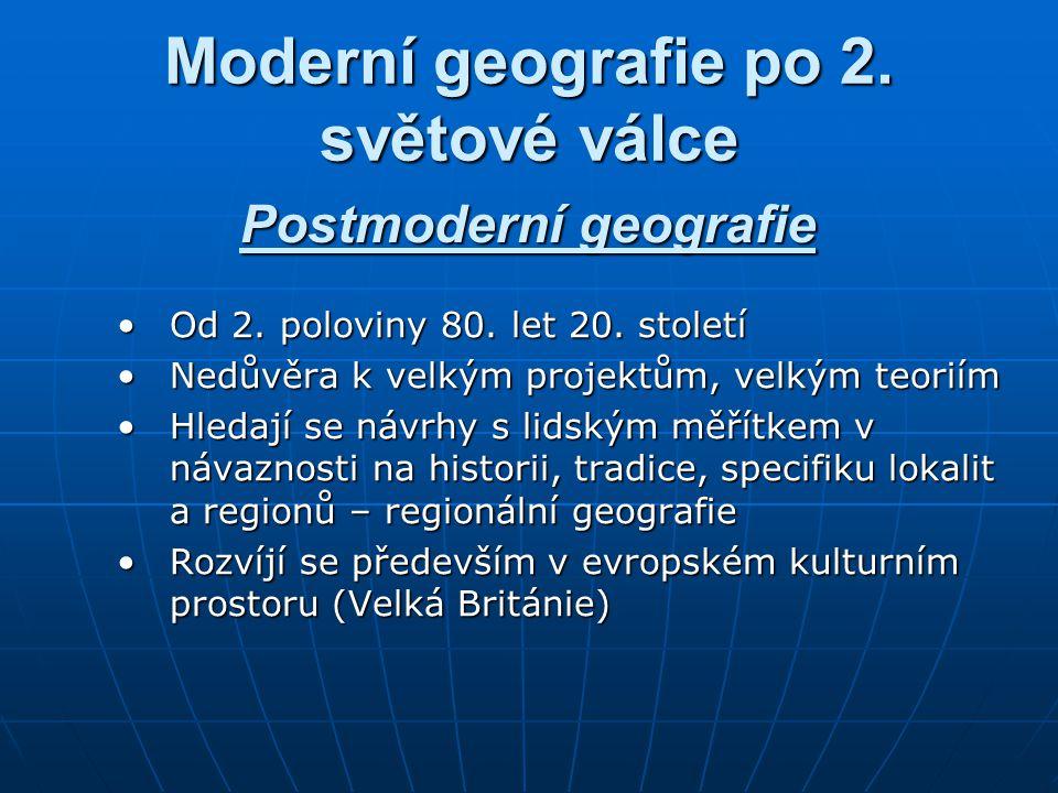Moderní geografie po 2. světové válce