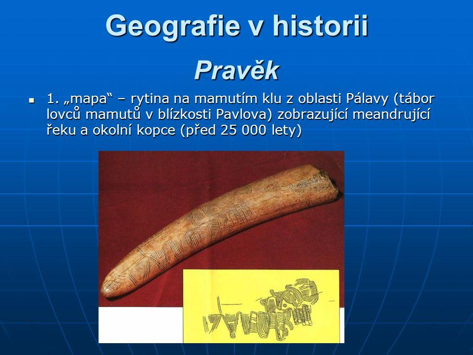 Geografie v historii Pravěk