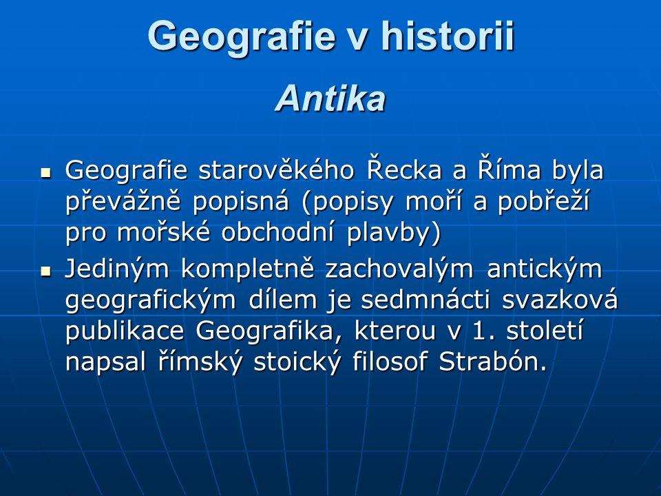 Geografie v historii Antika