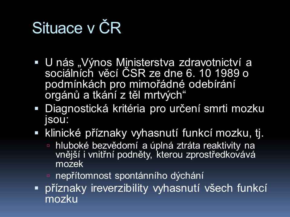 Situace v ČR