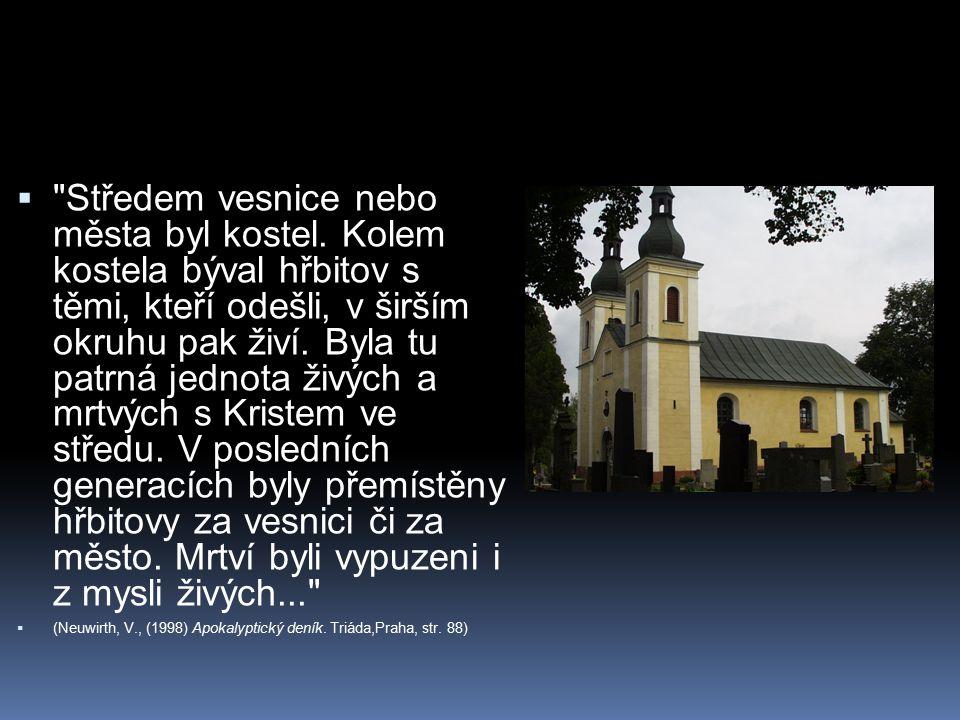 Středem vesnice nebo města byl kostel