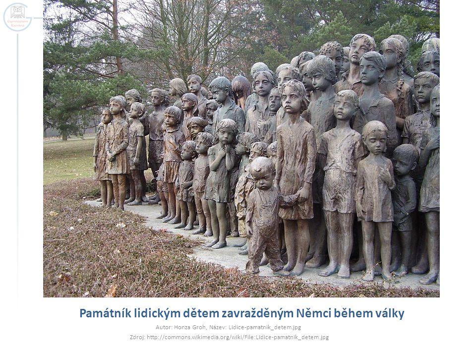 Památník lidickým dětem zavražděným Němci během války