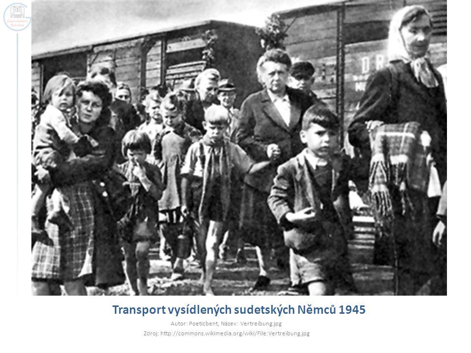 Transport vysídlených sudetských Němců 1945