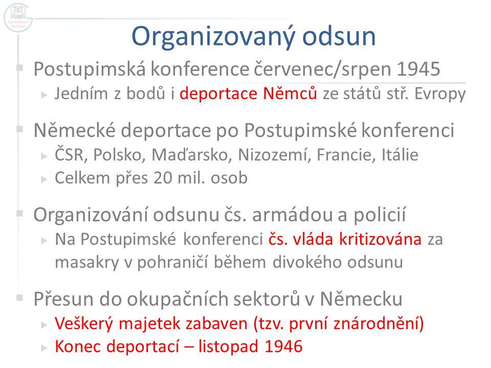 Organizovaný odsun Postupimská konference červenec/srpen 1945
