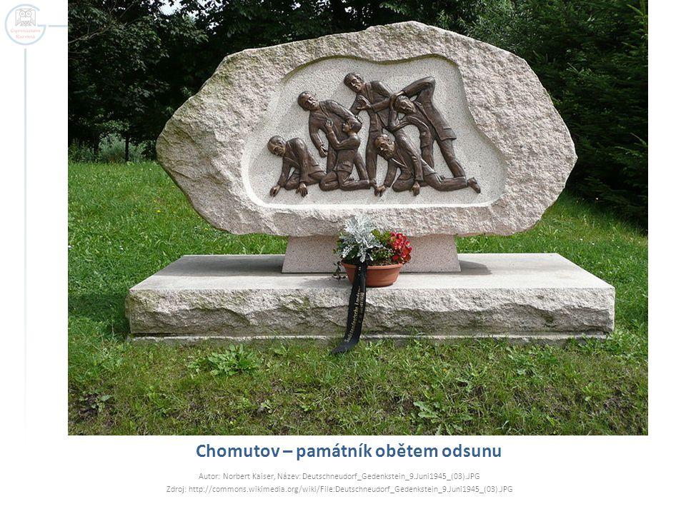 Chomutov – památník obětem odsunu
