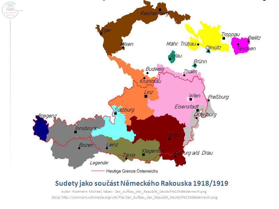 Sudety jako součást Německého Rakouska 1918/1919