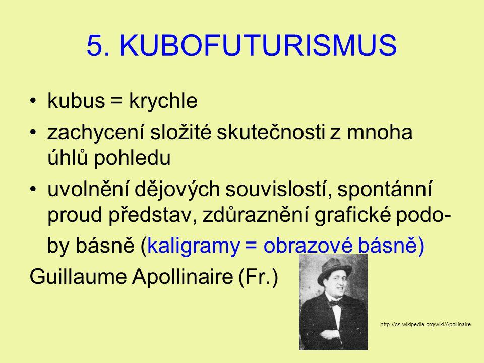 5. KUBOFUTURISMUS kubus = krychle