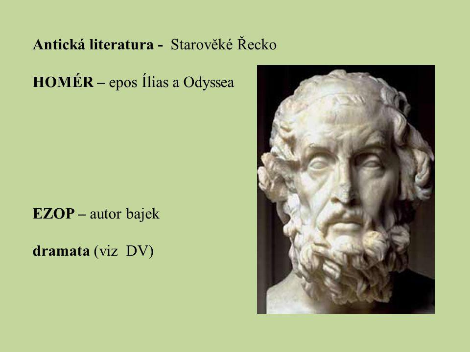 Antická literatura - Starověké Řecko