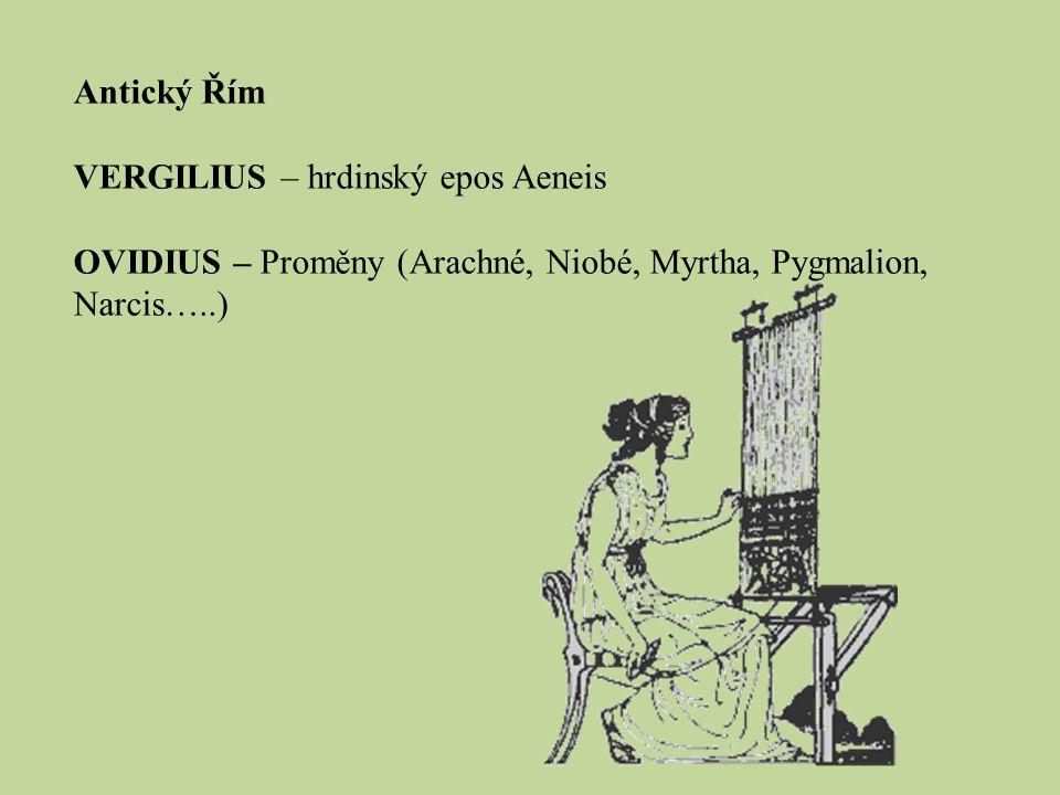 Antický Řím VERGILIUS – hrdinský epos Aeneis.