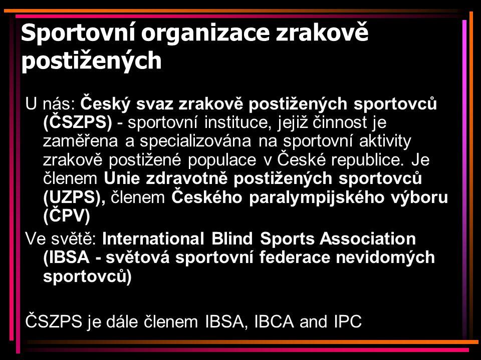Sportovní organizace zrakově postižených