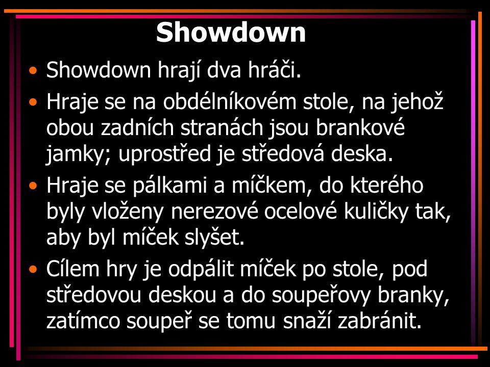 Showdown Showdown hrají dva hráči.