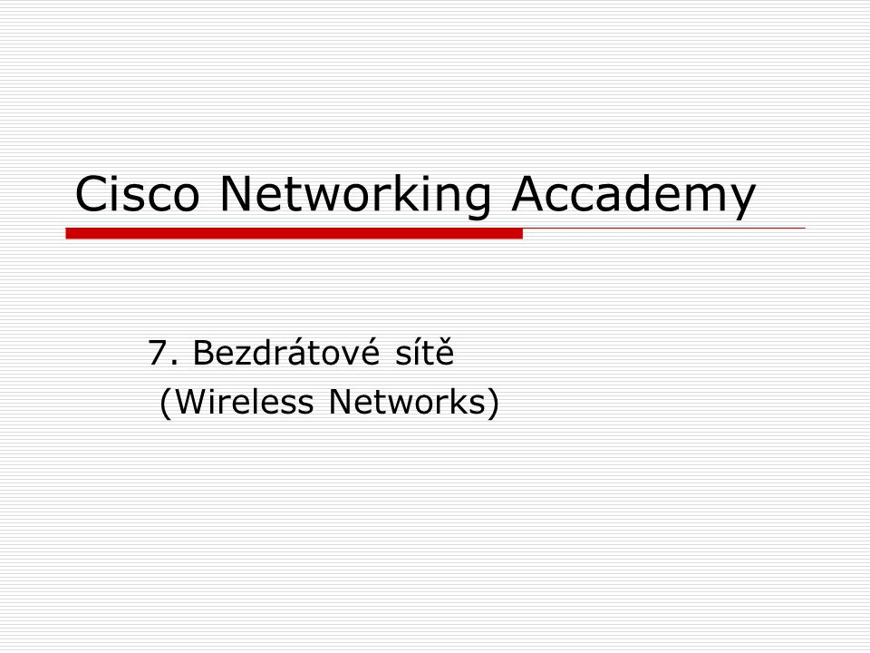 Cisco Networking Accademy