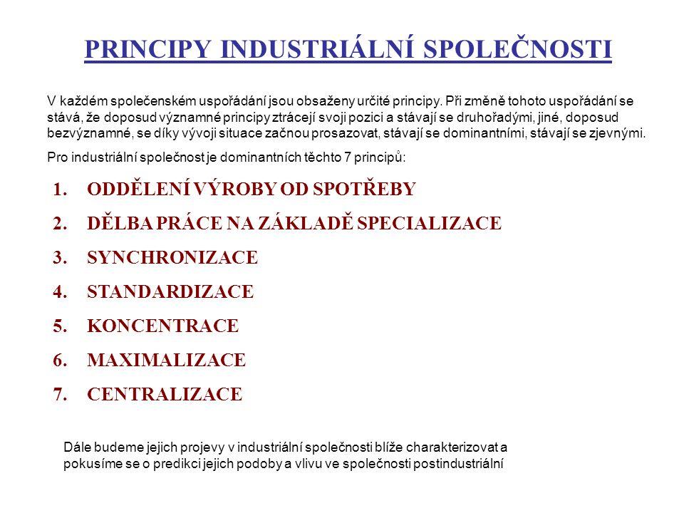 PRINCIPY INDUSTRIÁLNÍ SPOLEČNOSTI