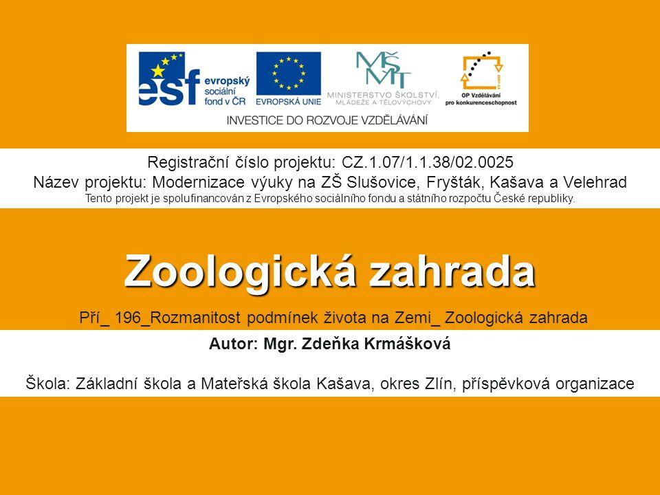 Autor: Mgr. Zdeňka Krmášková