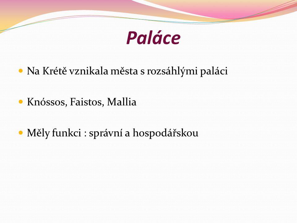 Paláce Na Krétě vznikala města s rozsáhlými paláci