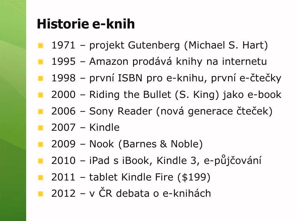 Historie e-knih 1971 – projekt Gutenberg (Michael S. Hart)