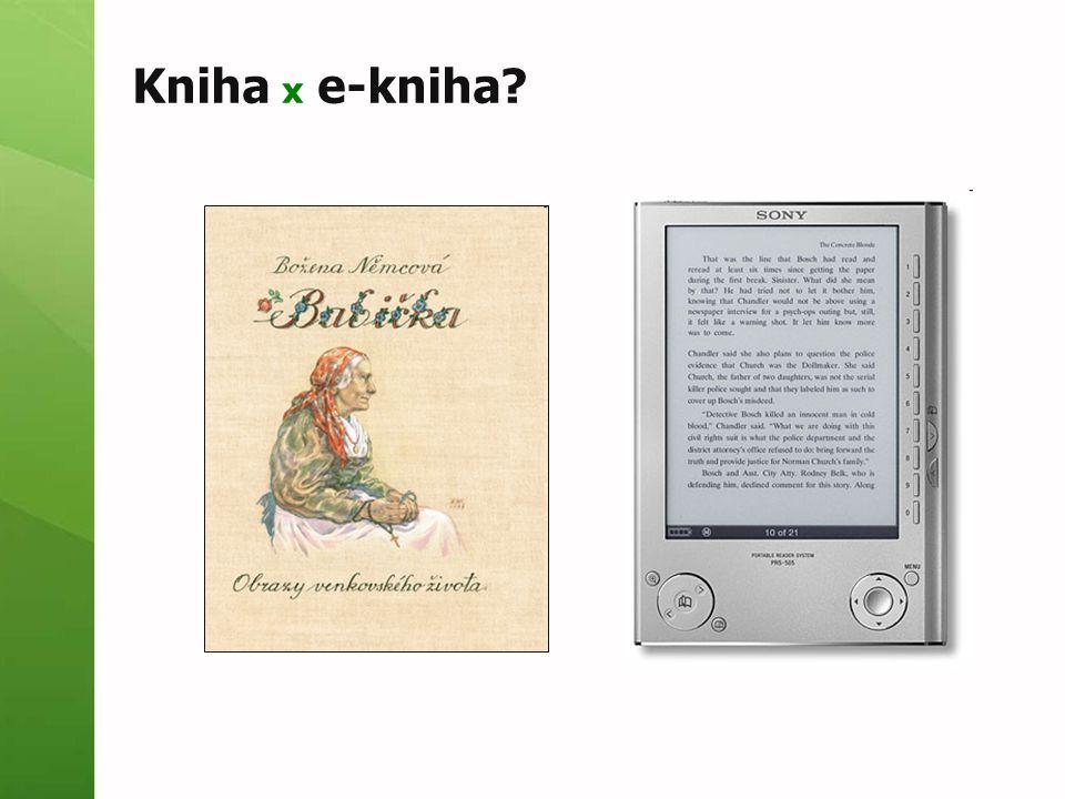 Kniha x e-kniha