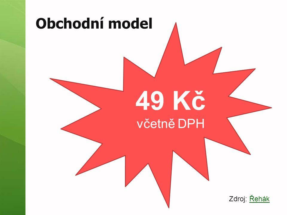 Obchodní model 49 Kč včetně DPH Zdroj: Řehák