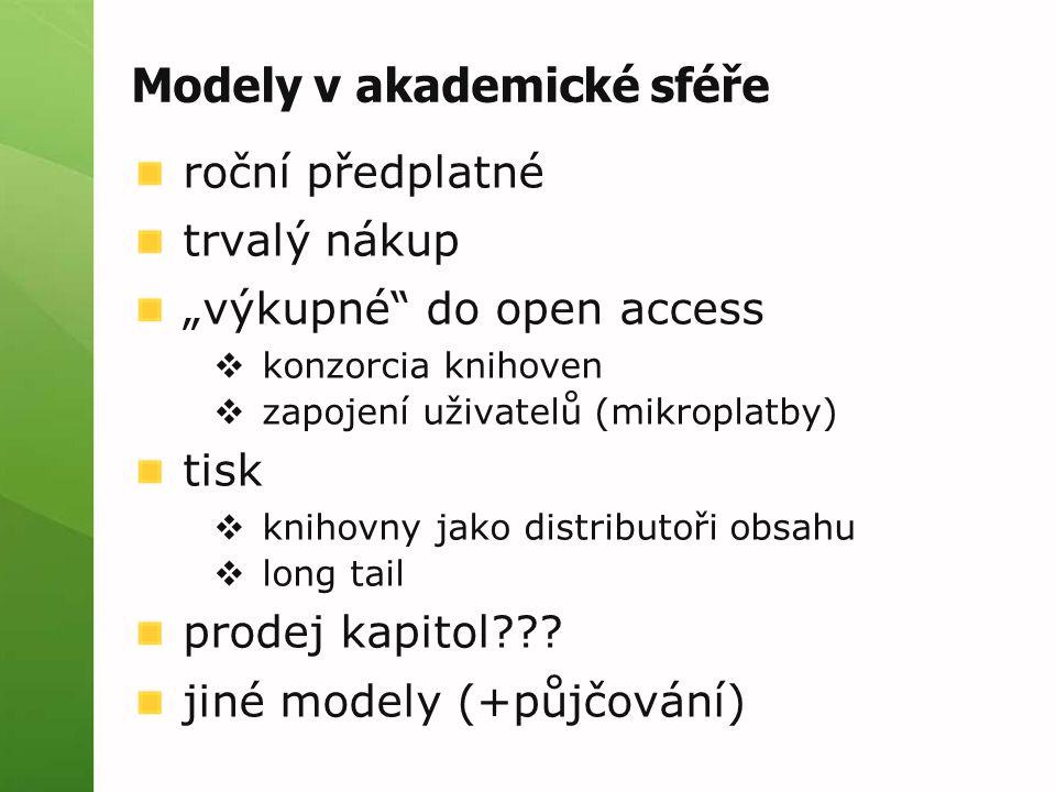 Modely v akademické sféře