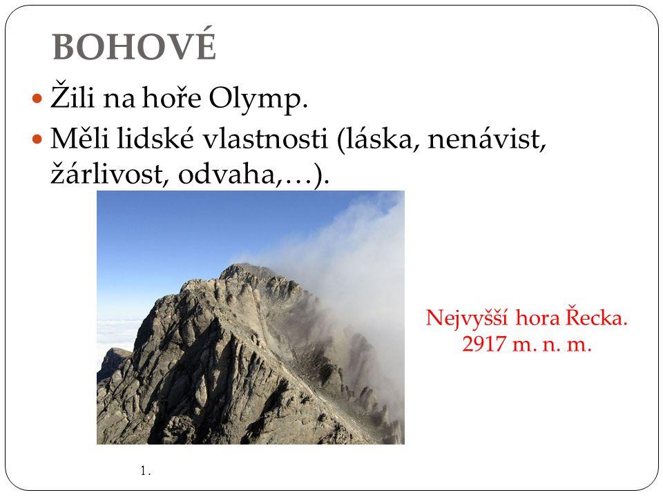 BOHOVÉ Žili na hoře Olymp.