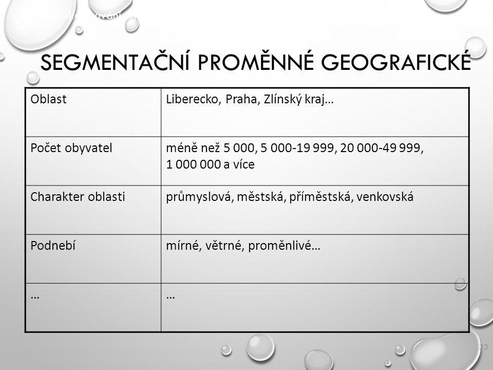 Segmentační proměnné geografické