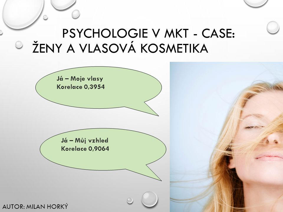 PSYCHOLOGIE V mkt - Case: ženy a vlasová kosmetika