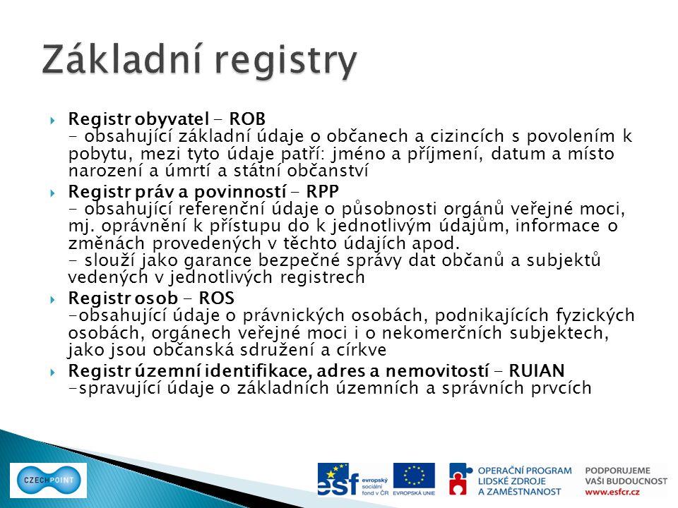 Základní registry