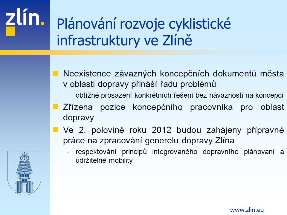 Plánování rozvoje cyklistické infrastruktury ve Zlíně