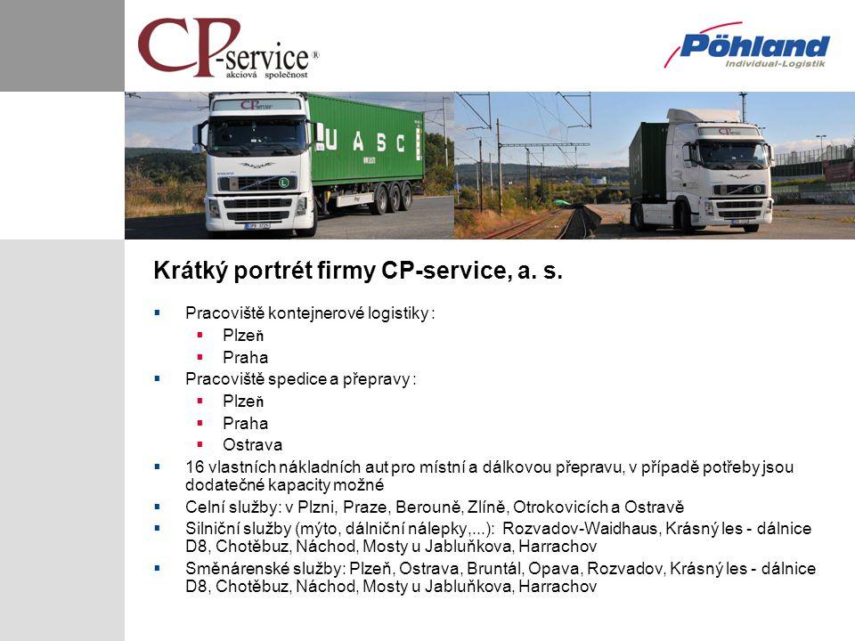 Krátký portrét firmy CP-service, a. s.