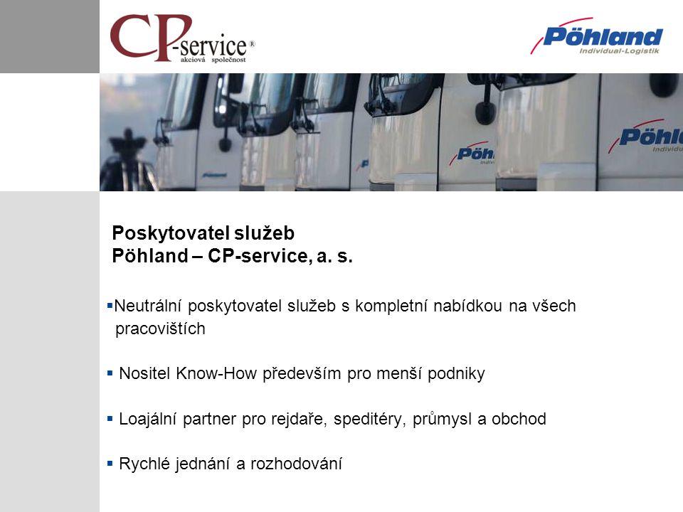 Poskytovatel služeb Pöhland – CP-service, a. s.