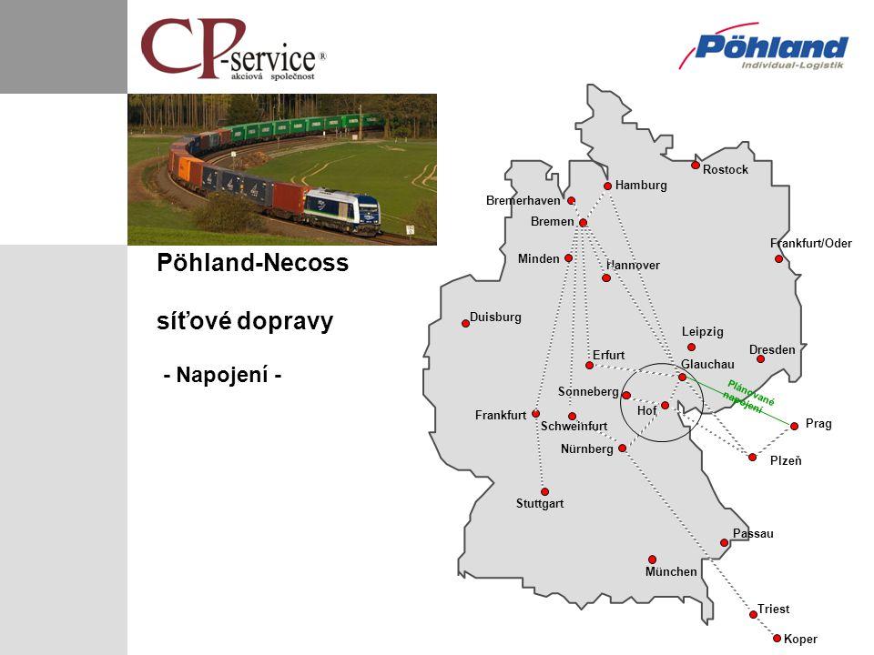síťové dopravy - Napojení -