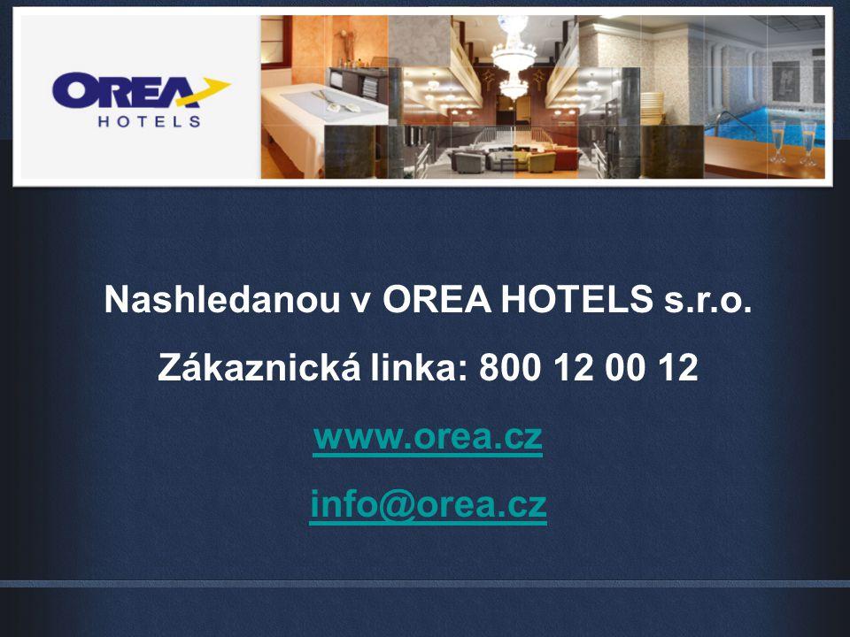 Nashledanou v OREA HOTELS s.r.o.