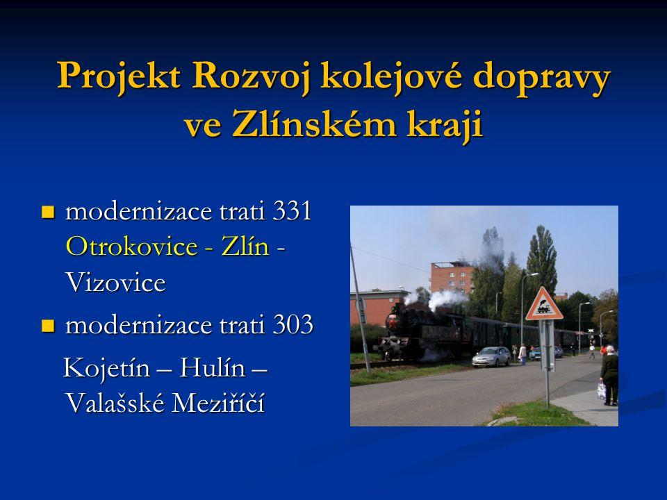 Projekt Rozvoj kolejové dopravy ve Zlínském kraji