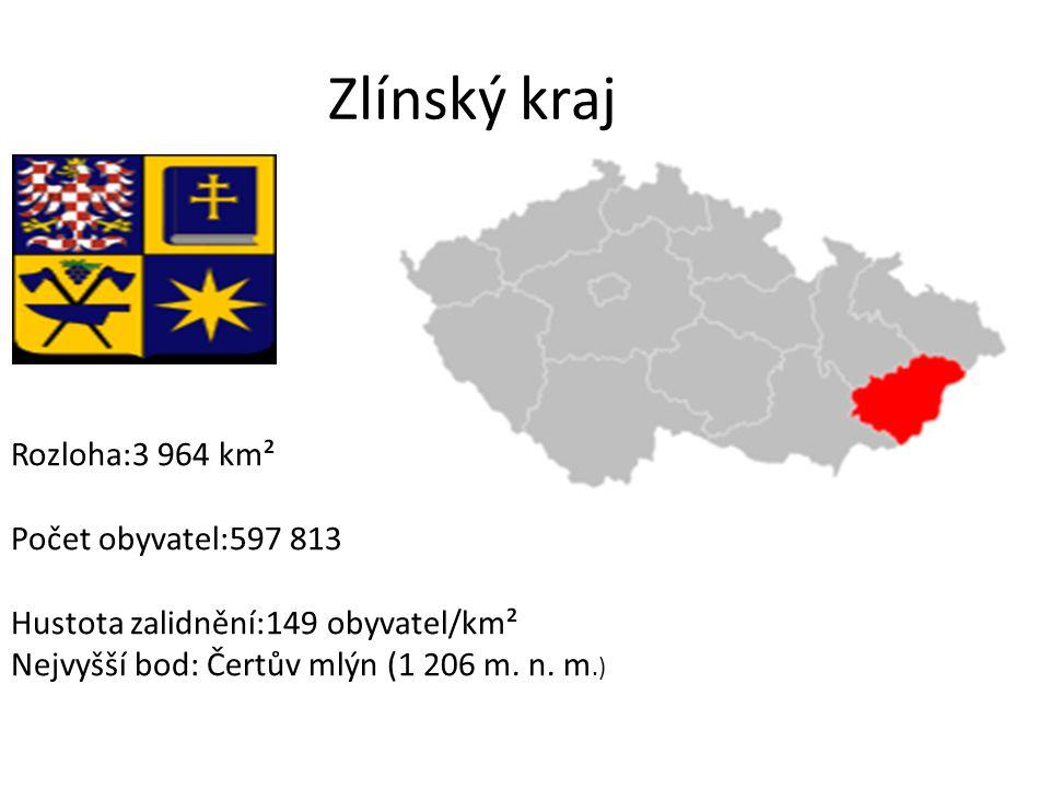 Zlínský kraj Rozloha:3 964 km² Počet obyvatel:597 813